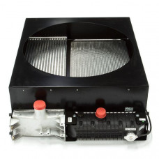Радиатор в сборе с интеркуллером, диффузором, защитными сетками, вентилятором 2485C519, патрубками и
